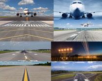 飞机跑道摄影高清图片