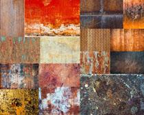 生锈的铁板背景摄影高清图片