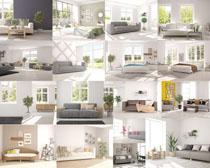 沙发与床家居摄影高清图片