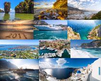 海边城市风景拍摄高清图片