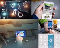 手机汽车导航摄影高清图片