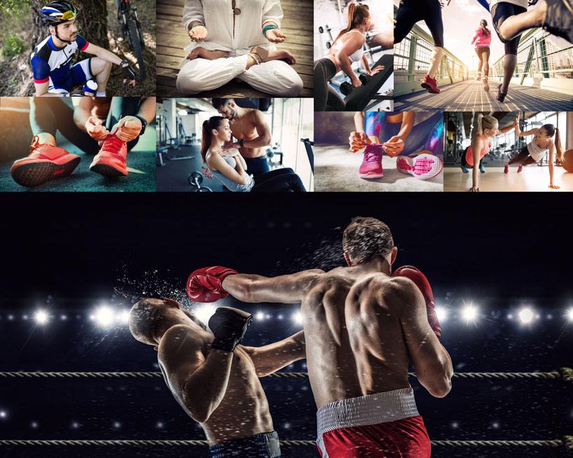 打拳击运动人物摄影高清图片