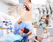 牙科医生检查摄影高清图片