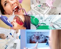 检查牙齿人物摄影高清图片