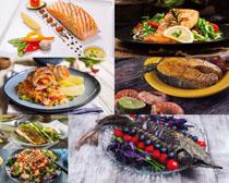 烤海鱼食物摄影高清图片