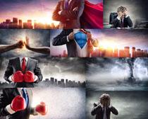 商务职业超人摄影高清图片