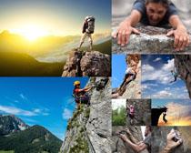 登山运动人物摄影高清图片
