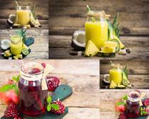 水果果汁饮料摄影高清图片