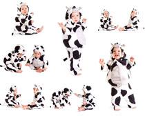小奶牛服饰baby摄影高清图片