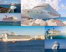 海上大型轮船摄影高清图片