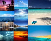 大海沙滩唯美风景摄影高清图片