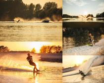 冲浪的国外男子摄影高清图片