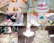 花朵生日蛋糕摄影高清图片
