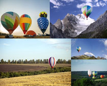氢气球风景摄影高清图片