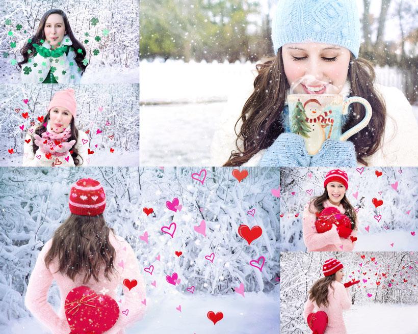 冬季雪天美女拍摄高清图片