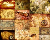 航海地图背景拍摄高清图片