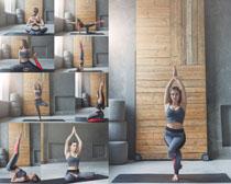 欧美瑜伽女子摄影高清图片