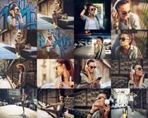 街角欧美美女摄影高清图片