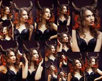 发型欧美女子拍摄高清图片