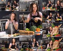 厨房美女拍摄高清图片