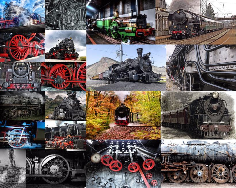 老式火车拍摄高清图片
