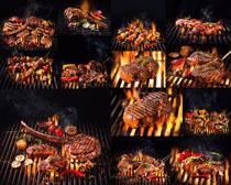 烤牛排调料摄影高清图片