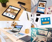 商务笔记本与平板摄影高清图片