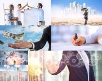 商务男士与金融摄影高清图片