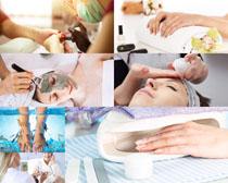 女人SPA护理拍摄高清图片