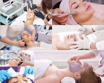 美女脸部护理拍摄高清图片