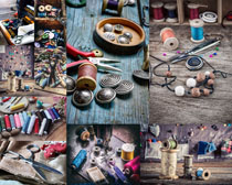 针线缝补工具拍摄高清图片
