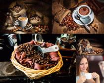 咖啡果与美女摄影高清图片
