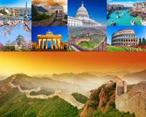 长城与国外建筑摄影高清图片