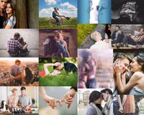 甜蜜的爱侣摄影高清图片