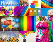 漂亮的涂鸦色彩摄影高清图片
