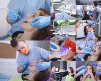牙科病人与医生摄影高清图片