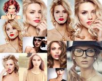 欧美发型女郎摄影高清图片