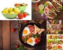 蔬菜饼早餐食物摄影高清图片