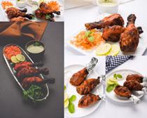 烤鸡腿食物摄影高清图片