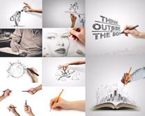 手绘绘画人物摄影高清图片