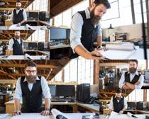 办公室设计男子摄影高清图片
