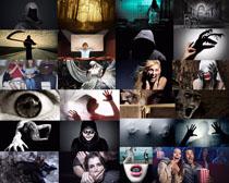 恐怖与惊慌的人物摄影高清图片