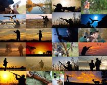 野外打猎的人们摄影高清图片