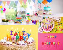 快乐生日蛋糕摄影高清图片