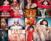 蒙面的国外女人摄影高清图片