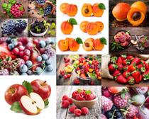 苹果葡萄桃子摄影高清图片
