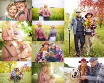 爱情的国外老人摄影高清图片
