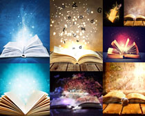 书本光芒摄影高清图片