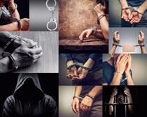 手铐人物摄影高清图片