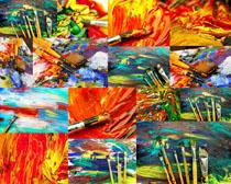 涂鸦色彩画摄影高清图片